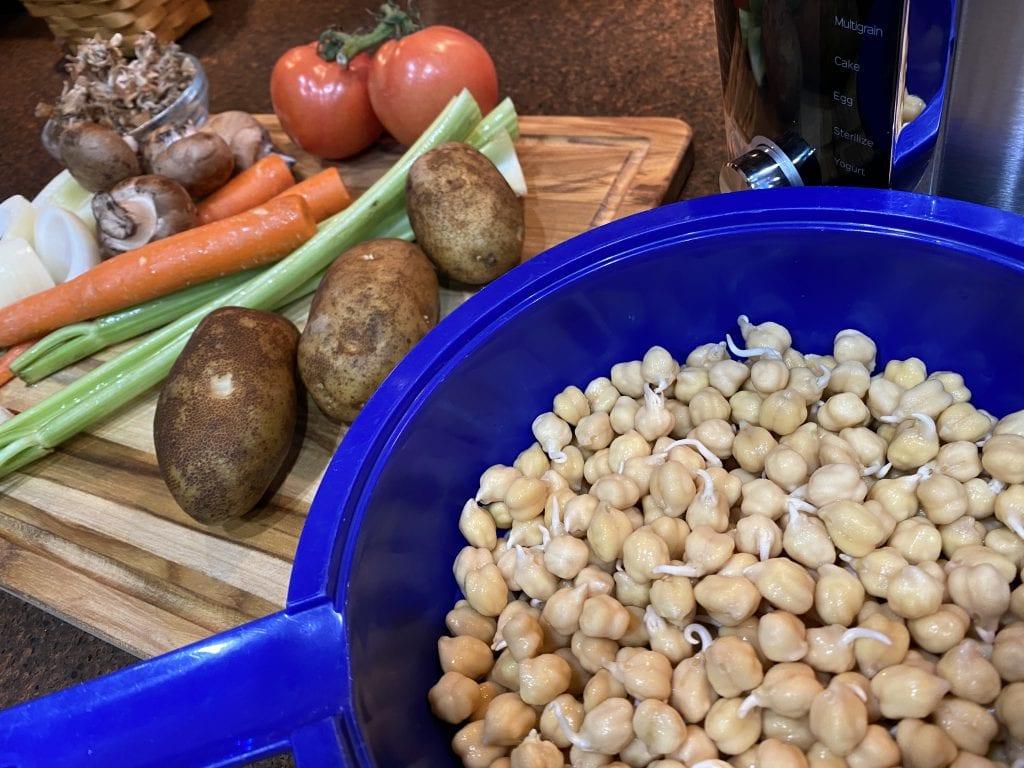 Chickpea sprouts preparation